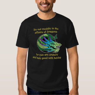 Do Not Meddle in the Affairs of Dragons Tees