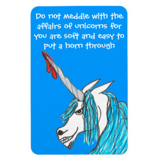 do not meddle with unicorns magnet