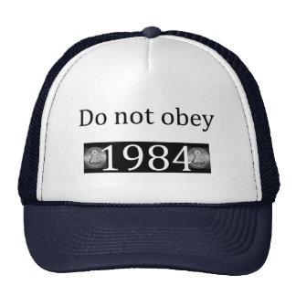 Do not obey/1984 trucker hats