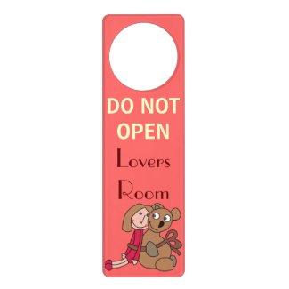 Do Not Open Lovers Room Valentine Door Hangers