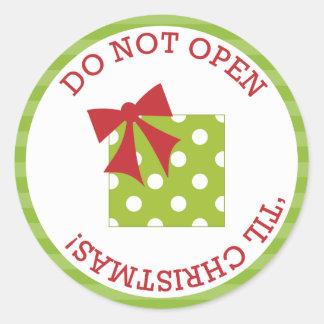 Do Not Open 'Til Christmas Stickers
