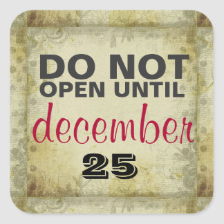 DO NOT Open Until December 25 Boho Gift Stickers