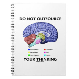 Do Not Outsource Your Thinking (Brain Anatomy) Spiral Note Books