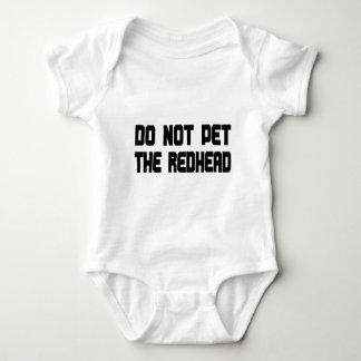 Do Not Pet The Redhead Baby Bodysuit