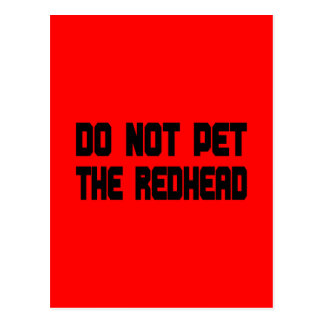 Do Not Pet The Redhead Postcard