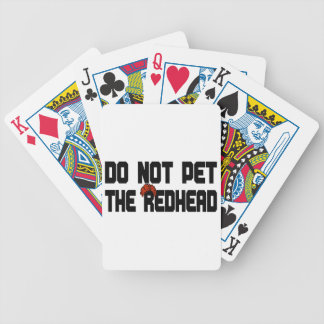 Do Not Pet The Redhead (w/ Wig) Bicycle Playing Cards