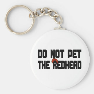 Do Not Pet The Redhead (w/ Wig) Keychain