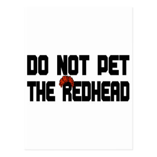 Do Not Pet The Redhead (w/ Wig) Postcard