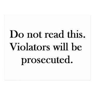 DO not Postcards