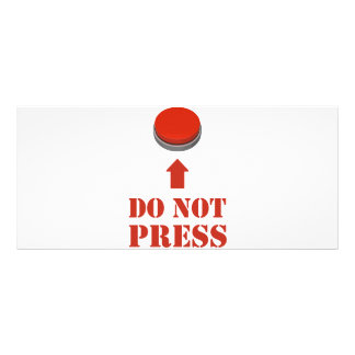 Do Not Press the Red Button Rack Card Template