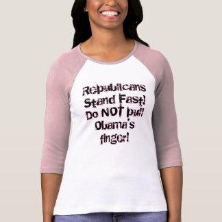 Do NOT pull Obama's finger! T-Shirt