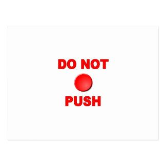 Do Not Push Button Postcard
