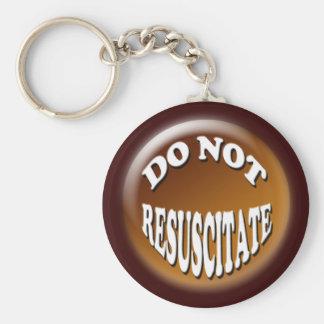 Do Not Resuscitate 3D Design Keychain