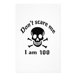 Do Not Scare Me I Am 100 Stationery