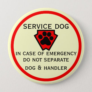 Do Not Separate Dog and Handler Button