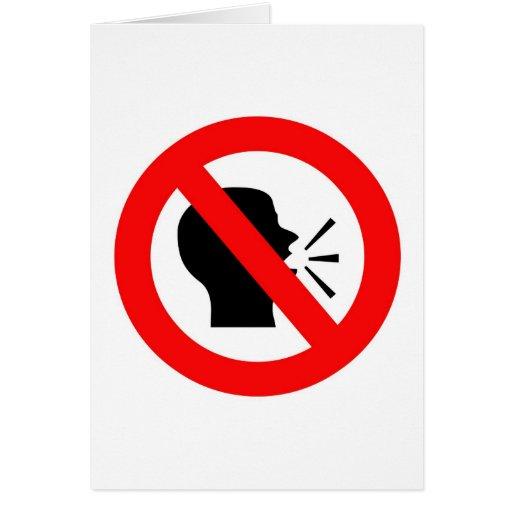 Do not speak greeting card