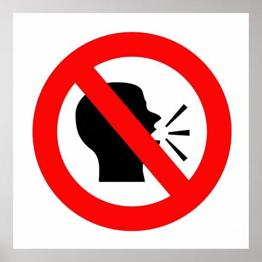 Do not speak poster