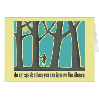 Do Not Speak Tree Hugger Card