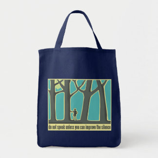 Do Not Speak Tree Hugger Tote Bag