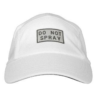 do not spray headsweats hat