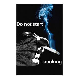 Do not start smoking ... stationery