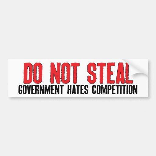 Do Not Steal Bumper Sticker