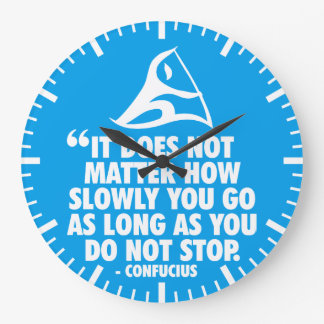 DO NOT STOP - Canoe Sprint Motivational Large Clock