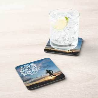 DO NOT STOP. Running Marathon Workout Motivational Drink Coaster