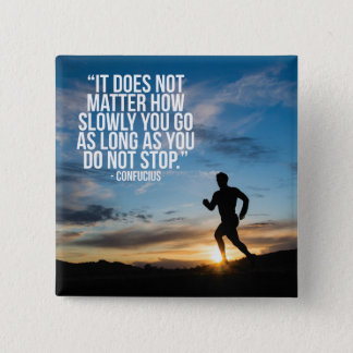 DO NOT STOP. Running Marathon Workout Motivational Pinback Button