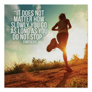 DO NOT STOP. Running Marathon Workout Motivational Poster