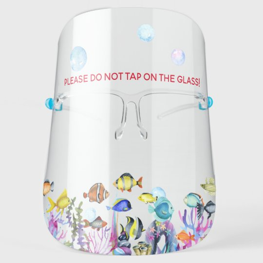 Do Not Tap on Glass   Funny Fish Tank Face Shield