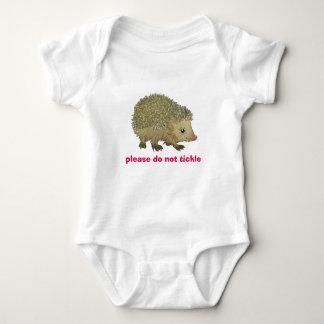 Do not tickle - hedgehog infant creeper