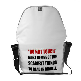 Do Not Touch Braille Messenger Bag