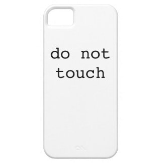 do not touch (iphone case) iPhone SE/5/5s case