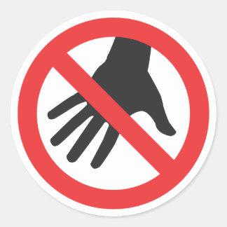 Do Not Touch Sticker