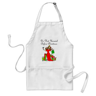 Do Not Unravel Before Christmas - Christmas Queen Adult Apron