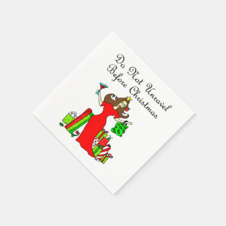 Do Not Unravel Before Christmas - Christmas Queen Paper Napkin