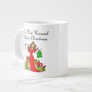 Do Not Unravel Before Christmas Large Coffee Mug