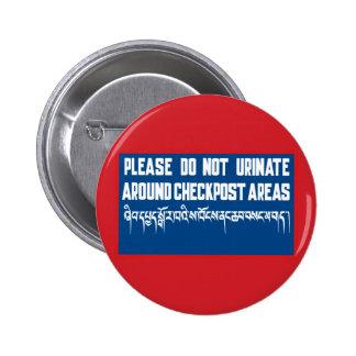 Do Not Urinate around Checkposts, Sign, Bhutan Buttons