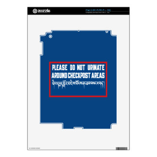 Do Not Urinate around Checkposts, Sign, Bhutan iPad 2 Decal