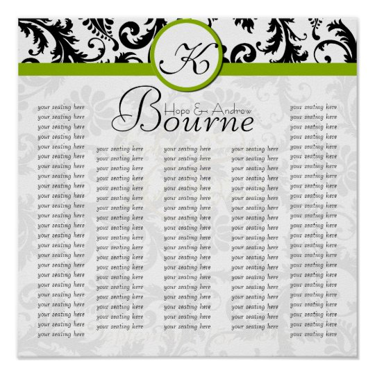 Do Not Use Template- Seating Chart for Reception
