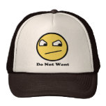 Do Not Want Awesome Face Mesh Hats