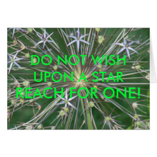 DO NOT WISH UPON A STAR, REACH FOR ONE! CARD