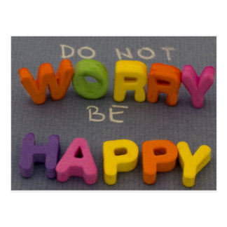 Do not worry be happpy title postcard