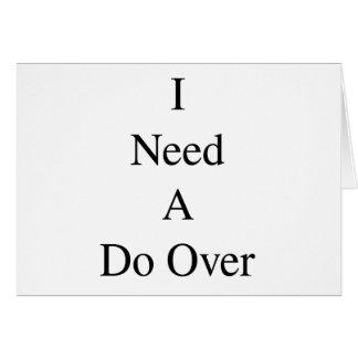 Do Over...1 Card