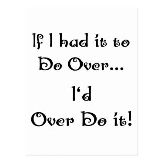 Do Over...2 Post Card