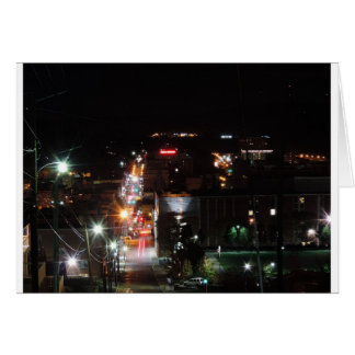 DO\owntown Morgantown at Night Card