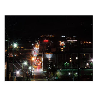 DO\owntown Morgantown at Night Postcard