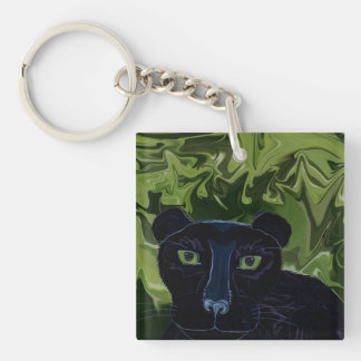 Do Panthers Fly? Double-Sided Square Acrylic Keychain