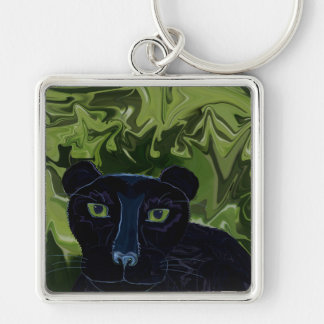 Do Panthers Fly? Silver-Colored Square Keychain